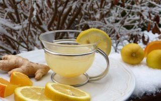 lemon ginger tea winter