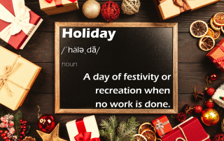 holiday a day of festivity or recreation when no work is done.