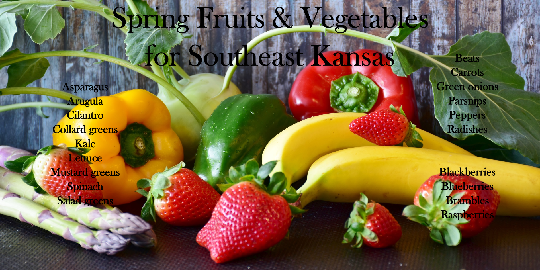 spring fruits vegetables